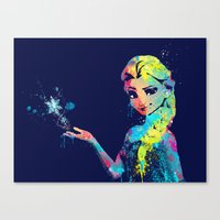 elsa Canvas Prints featuring Elsa by lauramaahs