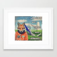 starfox Framed Art Prints featuring Starfox - F*CK YOU PEPPY! by John Medbury (LAZY J Studios)
