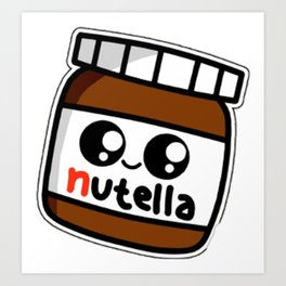 nutell nutel a chocolate new choco coco sticker stickers art new fun delicious cute hot 2018 Art Print