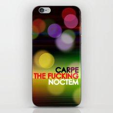 Carpe The Fucking Noctem iPhone & iPod Skin