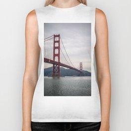 The great Golden Gate bridge Biker Tank