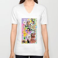 90s V-neck T-shirts featuring 90s, childhood. by eriicms