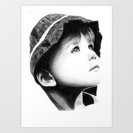 Innocence and curiosity Art Print