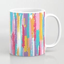 Colorful crayons brushstrokes pattern Coffee Mug