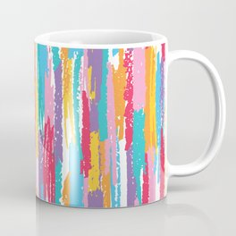 Colorful crayons brushstrokes pattern Coffee Mug