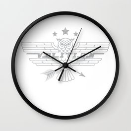 Power of Volition - The Owl (Light Gray Overlay) Wall Clock
