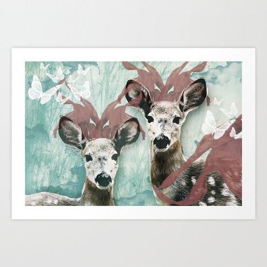 majestic fawn Art Print