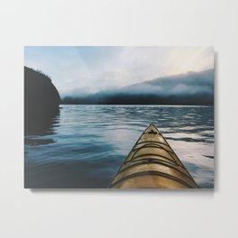 Mud Bay Paddle Metal Print