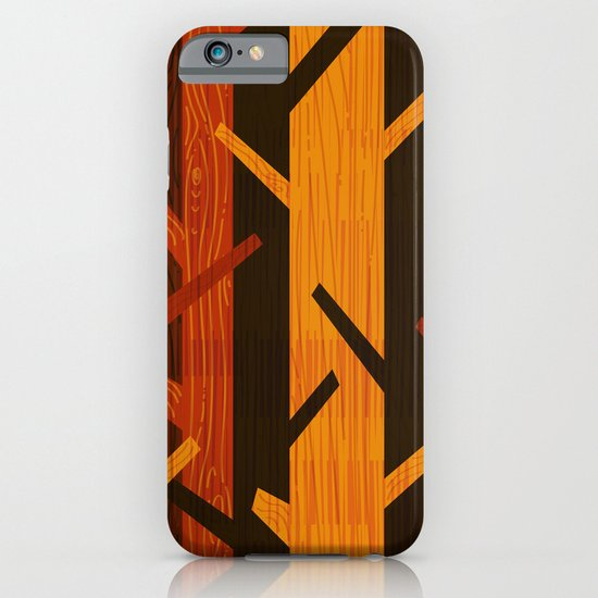Retro Fall Woods by Friztin iPhone & iPod Case