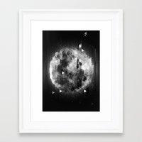 luna Framed Art Prints featuring Luna by Elvijs Pūce
