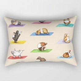 The Yoguineas - Yoga Guinea Pigs - Namast-hay! Rectangular Pillow
