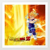 dragonball z Art Prints featuring Vegeta Dragonball Z best idea by customgift
