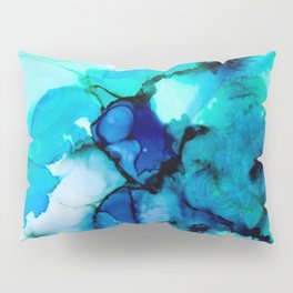 Booming Turquoise Pillow Sham