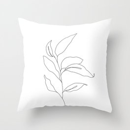 Plant one line drawing - Heidi Throw Pillow