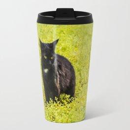 Black and Yellow Travel Mug
