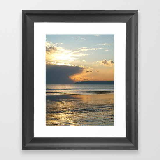 Beachside. Tramore, Co. Waterford Framed Art Print