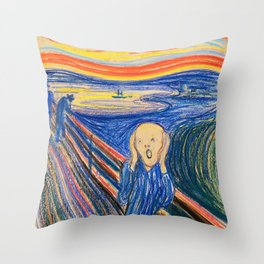 The Scream 1895 - Digital Remastered Edition Throw Pillow