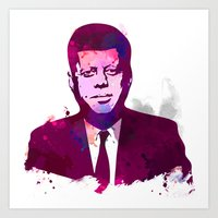 jfk Art Prints featuring JFK by BIG Colours