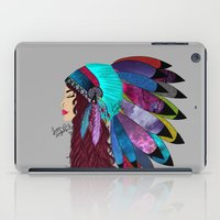 native american iPad Cases featuring native american  by Lunah