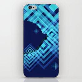 Blue Fish Angel Anglers Angles iPhone Skin