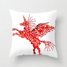 Extremely hearty unicorn pegasus Throw Pillow