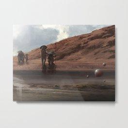 scifi landscape Metal Print