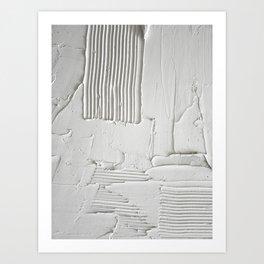 Relief [3]: an abstract, textured piece in white by Alyssa Hamilton Art  Art Print