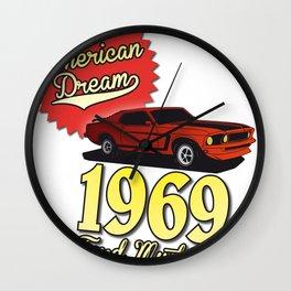 Ford Mustang 1969 Wall Clock