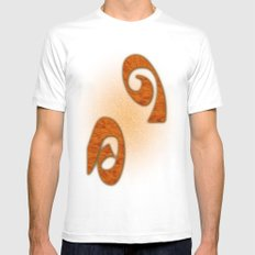 Symbols in Wood MEDIUM Mens Fitted Tee White