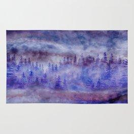 Misty Pine Forest Rug