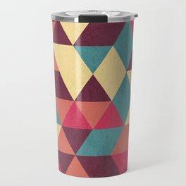 TRIANGLES RED Travel Mug