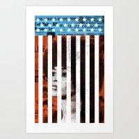 political Art Prints featuring Angela Davis Political Prisoner by Robert John Paterson