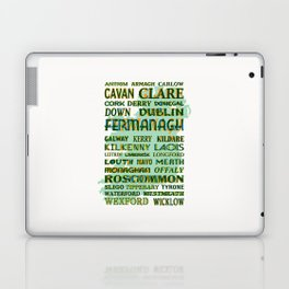 32 Counties Of Ireland Laptop & iPad Skin