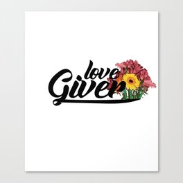 love giver Canvas Print