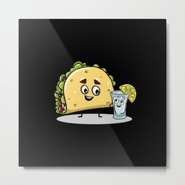 Taco And Tequila Best Friends Metal Print