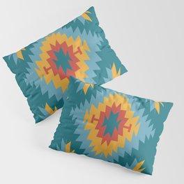 Santa Fe Southwestern Native Navajo Indian Tribal Geometric Pattern Pillow Sham