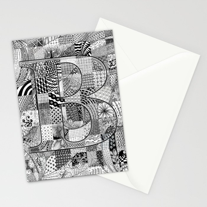 The Letter B Stationery Cards
