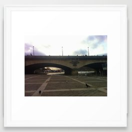 Paris: Bridge over the Seine Framed Art Print