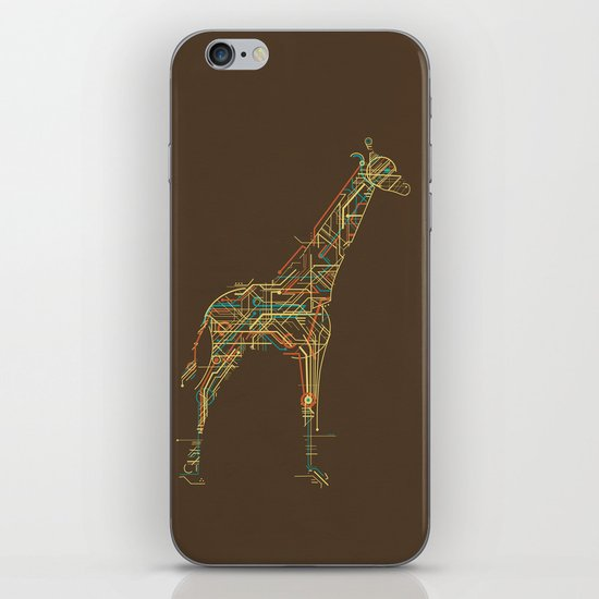 Electric Giraffe iPhone & iPod Skin