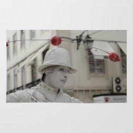 Artist white red Rug