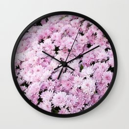 A Sea of Light Pink Chrysanthemums #2 #floral #art #Society6 Wall Clock