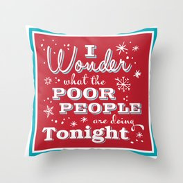 I Wonder what Throw Pillow