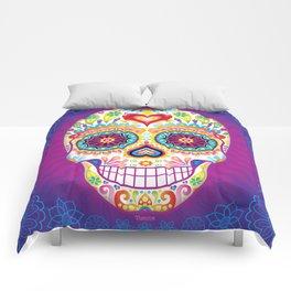 Sugar Skull Art (Luminesce) Comforters
