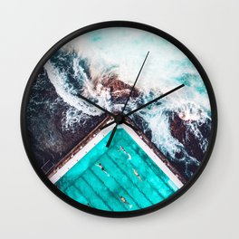 Sydney Bondi Icebergs Wall Clock