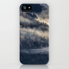 Calming Mountain Fog Scene iPhone Case