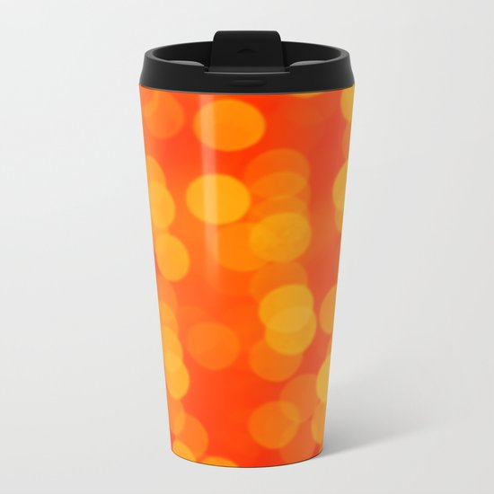 Orange Disco Fever Metal Travel Mug