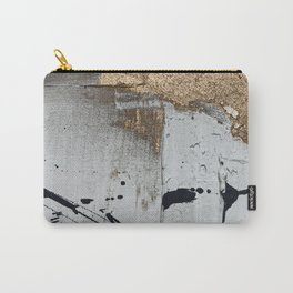 Still: an abstract mixed media piece in black, white, and gold by Alyssa Hamilton Art Carry-All Pouch