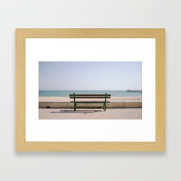 Sit down, relax. Framed Art Print