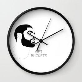 Kyrie Gets Buckets Wall Clock