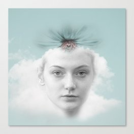A girl who lived in a cloud Canvas Print